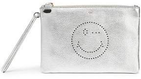 Anya Hindmarch Metallic Perforated Textured-Leather Pouch