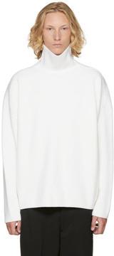 Ami Alexandre Mattiussi White Oversized Turtleneck