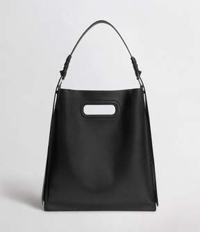 AllSaints Voltaire Leather Flat Hobo Bag