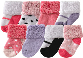 Luvable Friends Pink & Purple Socks Set - Infant