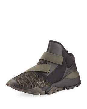 Y-3 Ryo Mixed-Media Fast-Strap Sneaker