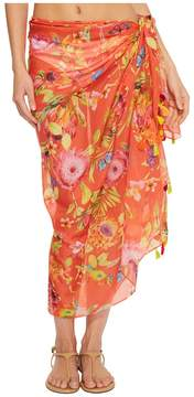 Echo Melba Floral Tassel Pareo Cover-Up Scarves