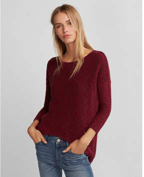 Express marled lace-up side tunic sweater