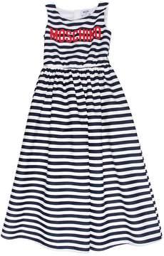 Moschino Striped Cotton Poplin Long Dress