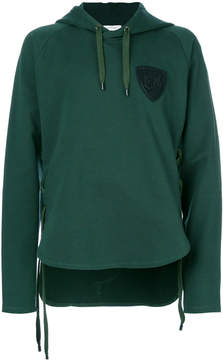 Pierre Balmain logo patch hooded sweatshirt