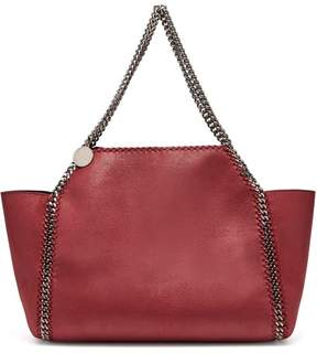 Stella McCartney Falabella Faux Leather Tote - Womens - Burgundy