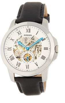 Fossil Men's Grant Automatic Self Wind Skeleton Dial Watch