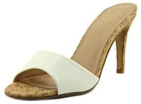 Thalia Sodi Karina Open Toe Leather Slides Sandal.