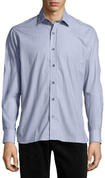 Ike Behar Patterned Sport Shirt, Gray