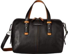 Vera Bradley Gallatin Satchel Satchel Handbags - BITTERSWEET CHOCOLATE - STYLE
