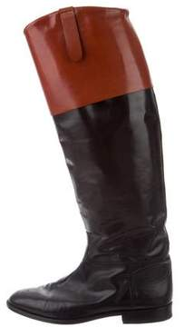 Calvin Klein Collection Bicolor Leather Boots