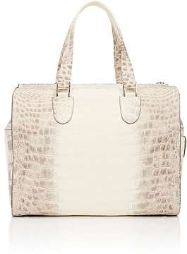 Valextra WOMEN'S MILANO BOSTON CROCODILE SATCHEL