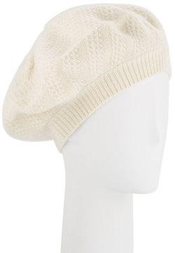 Sofia Cashmere Honeycomb Textured Knit Beret