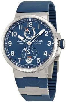 Ulysse Nardin Marine Automatic Blue Dial Blue Rubber Men's Watch 1183-126-3-63