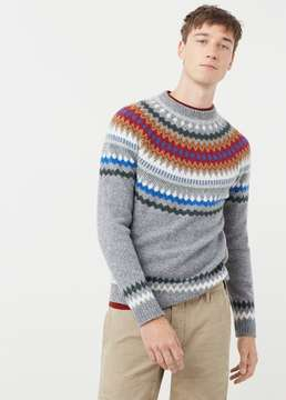 Mango Outlet Fair isle wool sweater