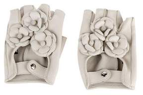Chanel Camellia Fingerless Gloves