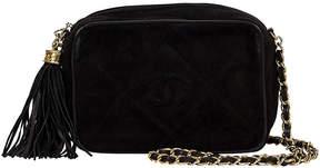 One Kings Lane Vintage Chanel Black Suede Tassel Camera Bag