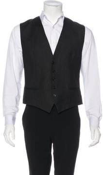 Christian Dior Striped Wool Suit Vest