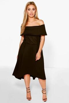 boohoo Plus Elizabeth Double Layer Midi Dress