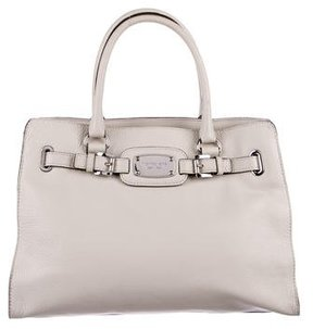 MICHAEL Michael Kors Grained Leather Satchel - NEUTRALS - STYLE