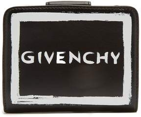Givenchy Graffiti logo leather wallet