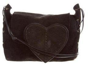 Gucci Suede Shoulder Bag - BLACK - STYLE