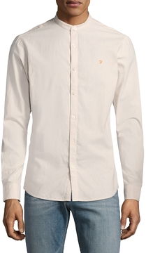 Farah Men's Grandad Steen Slim Long Sleeve Sportshirt