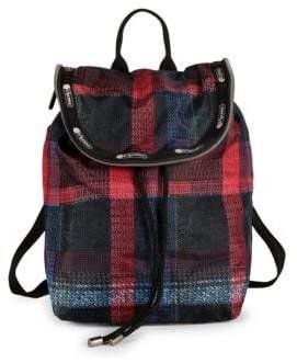 Le Sport Sac Colette Plaid Backpack