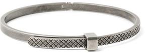 Bottega Veneta Intrecciato Oxidised Sterling Silver Bracelet