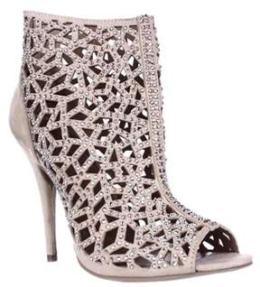Zigi Drift Caged Rhinestone Evening Sandals, Cinnamon.