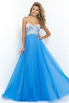 Blush Lingerie Strapless Sequined Long Dress 9998