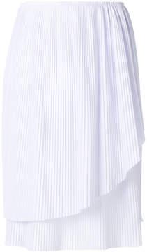Cédric Charlier plisse asymmetric skirt