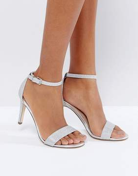 Call it SPRING Ahlberg Silver Barely There Heeled Sandals
