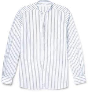 Boglioli Slim-Fit Grandad-Collar Striped Cotton Shirt