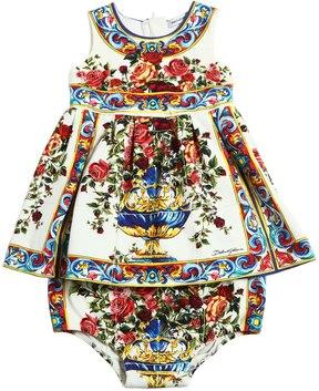 Dolce & Gabbana Maiolica Interlock Dress & Diaper Cover