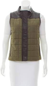 Barneys New York Barney's New York Leather-Accented Quilted Vest