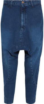 Bassike Super Lo Slung Cropped Boyfriend Jeans - Blue