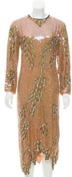 Dries Van Noten Sequin Silk Dress