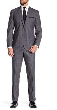 Kenneth Cole New York Plaid Wool Suit