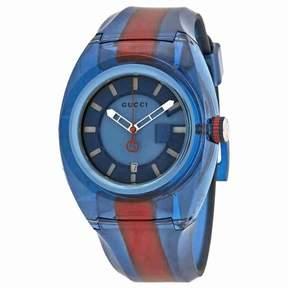 Gucci Sync XL Blue Dial Men's Two Tone Watch YA137112