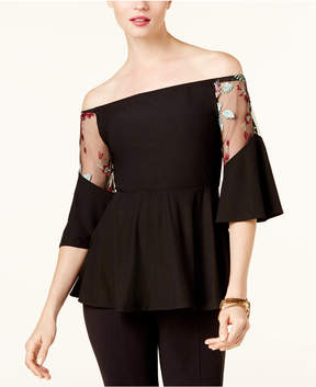ECI Off-The-Shoulder Illusion Top