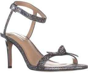 INC International Concepts I35 Laniah Ankle Strap Evening Sandals, Pewter.