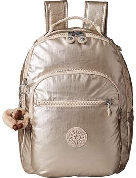 Kipling Seoul Small Metallic Backpack Bags - SPARKLEY GOLD - STYLE