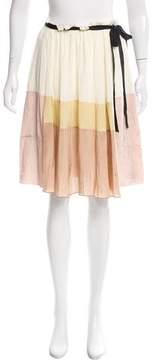 Aquilano Rimondi Aquilano.Rimondi Silk Colorblock Skirt w/ Tags