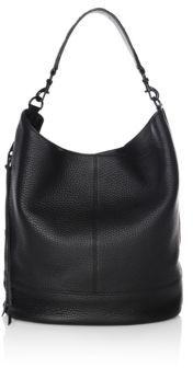 Rebecca Minkoff Leather Hobo Satchel - BLACK - STYLE