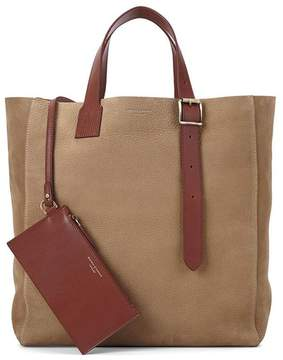 Aspinal of London Editors A Tote In Fog Nubuck Smooth Tan