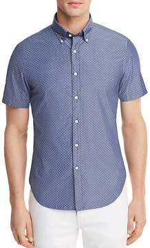 Bloomingdale's The Men's Store at Dotted Short Sleeve Button-Down Shirt - 100% Exclusive