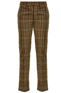 Toga Mid-rise checked wool trousers