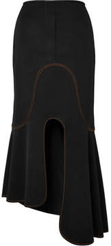 Ellery Orbit Asymmetric Crepe Midi Skirt - Black