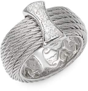 Alor Women's Cable 18K White Gold Band Ring
